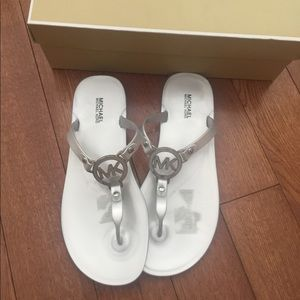 New Silver Michael Kors sandals